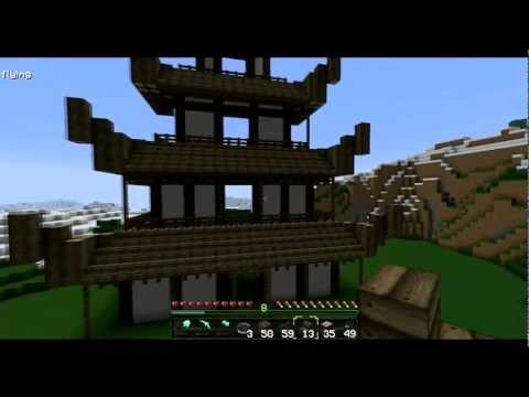 Tutorial Asian Pagoda Minecraft Project