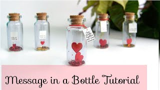 Mini Love Craft For Husband/wife - Message In A Bottle Tutorial-Romantic And Cheap Gift For Spouse