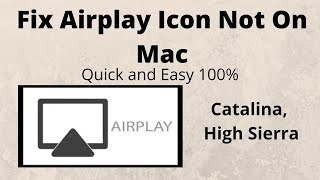Fix Airplay Icon Not On Mac Menu Bar
