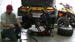 can-am rear diff/ axle removal