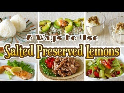 6 Ways to Use Salted Preserved Lemons (Easy Recipes) 塩レモンの使い方 6品 (超簡単 レシピ)