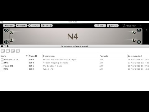 Acustica Audio | N4 Setups Test