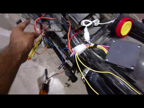 installing Security Alarm system in bike Part 3