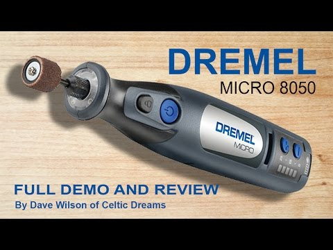 Dremel Micro Cordless 8050 FULL Demo,  Review & how to in HD