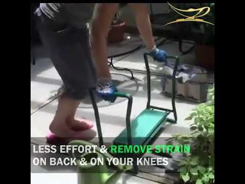 Garden Kneeler And Seat Protects Your Knees Clothes From Dirt & Grass Stains