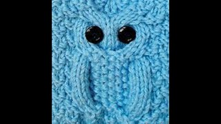 تريكو ضفيرة البومة تريكو بطريقة سهلة وبسيطة      ...... Owl Cable Stitches