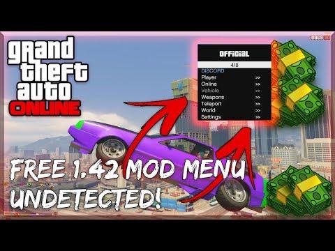 NEW] GTA 5 Online 1 42 Mod Menu w/ Money Hack + RP! PC (Full