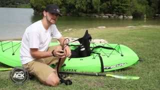 How To Attach The ACK Bungee Paddle Leash