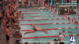 Boys Swimming Sectional Finals