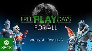 Free Play Days For All 31 gennaio- 3 febbraio