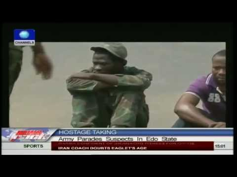 Army parades hostage-taking suspects in Edo
