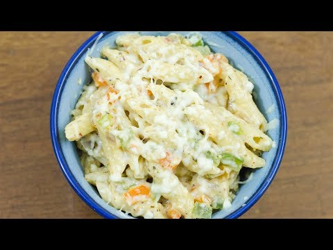 Pasta in White Sauce | White Sauce Pasta | Indian Style White Sauce Pasta Recipe