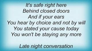 Josh Rouse - Late Night Conversation Lyrics