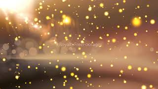 Golden Particles bokeh | bokeh effect video | bokeh particles overlay | golden particles background