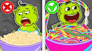 Lion Family 🍝 Journey to the Center of the Earth #30. Rainbow Pasta | Cartoon for Kids