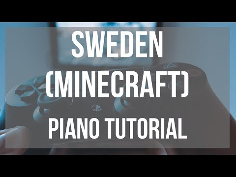 EASY Alto Sax Sheet Music: How to play Sweden (Minecraft) by