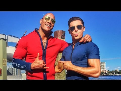 First Look at Zac Efron & The Rock in Baywatch