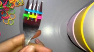 Vissengraat met 2 vorken haken