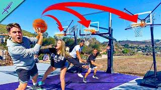2v2 BASKETBALL BUT WITH 3 HOOPS!? Ft. Jenna Bandy, Chris Staples, AJ Rompza