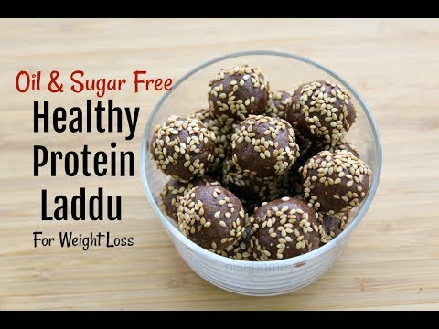 Protein Laddu For Weight Loss – Oil & Sugar Free Healthy Ladoo Recipe – Skinny Energy Bites/Balls