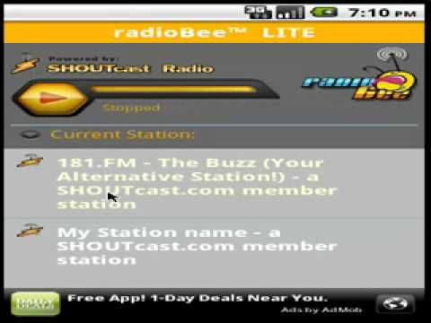 Video of radioBee Lite - radio app
