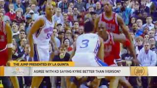 Tracy McGrady disagreed that Kyrie Irving Is Better Than Allen Iverson (2017)