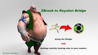 ZBrush To Keyshot Bridge, and Skin Rendering In Keyshot