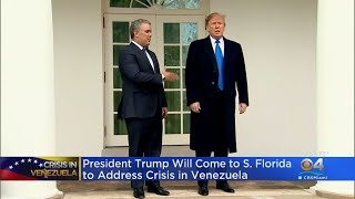 President Trump To Adddress Venezuelan Crisis In Miami