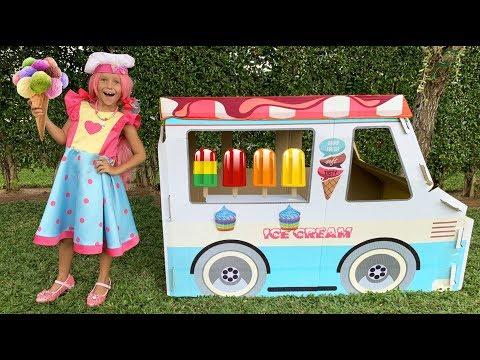 София Папа и Макс играют в Вагончик Мороженого (видео)