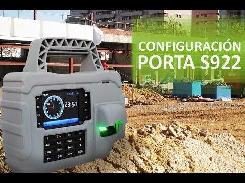 Configuración de Reloj Checador Portatil Porta S922 ZKTeco