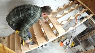 All Done! LADDERS NO MORE! (Finishing Garage Stair Build)