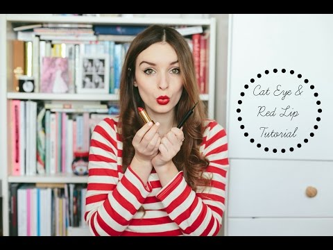 Cat Eye & Red Lip 'Tutorial' | What Olivia Did