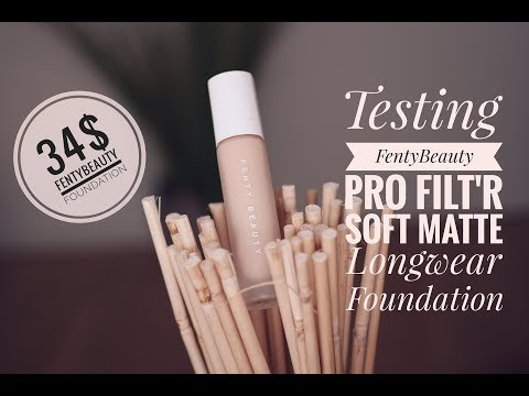 FENTY BEAUTY by RIHANNA FOUNDATION REVIEW || 8 HOURS TEST || DRY SKIN