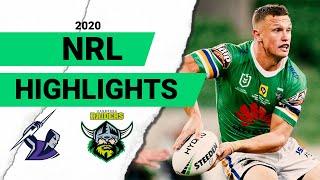Storm v Raiders Match Highlights   Round 3 2020   Telstra Premiership   NRL
