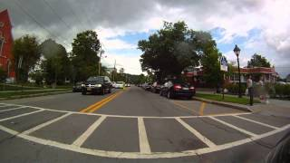 preview picture of video 'Milford PA- Main st  virtual electic motorcycle ride 18337'