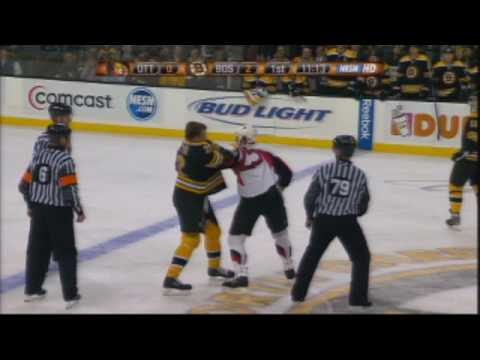 Chris Neil vs Shawn Thornton