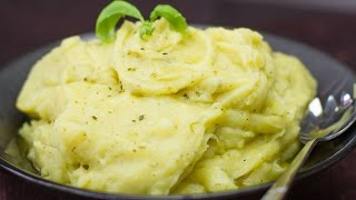 Best Ever Dairy Free Herbed Mashed Potatoes - No Butter or Milk!