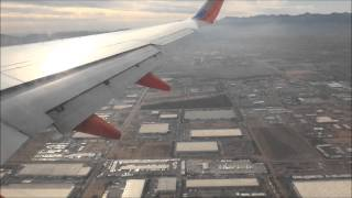 Southwest Airlines 737-700 Flight 1174 Landing Phoenix, AZ coming from El Paso, TX RWY 8
