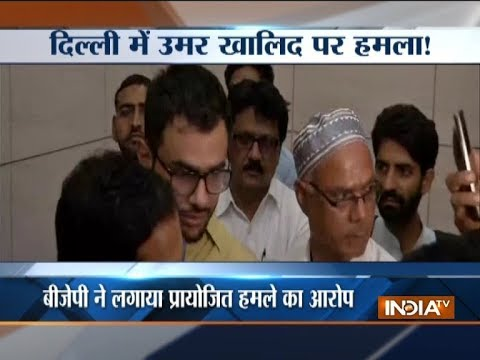 JNU student leader Umar Khalid at in Delhi high-security area, escapes unharmed