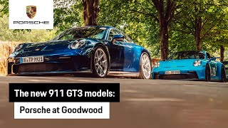 The new 911 GT3 and GT3 with Touring Package at Goodwood