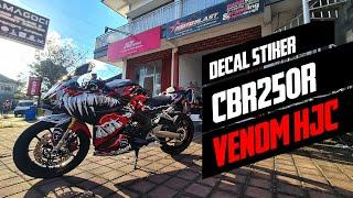 DECAL STICKER MOTOBLAST HONDA CBR250RR LIVERY VENOM HJC LAMINASI SUPERGLOSS
