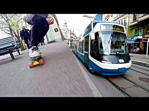 Penny Skateboard vs Public Transport // GoPro Hero 5 POV