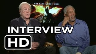 The Dark Knight Rises Michael Caine and Morgan Freeman Interview