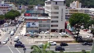 preview picture of video 'View From 6th Floor Carpark, Centre Point, Kota Kinabalu'