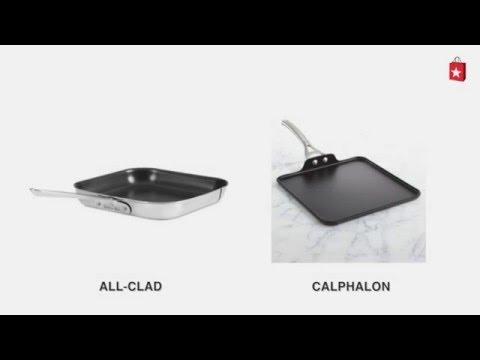 Calphalon Contemporary Nonstick 11 In. Square Griddle Comparison Video