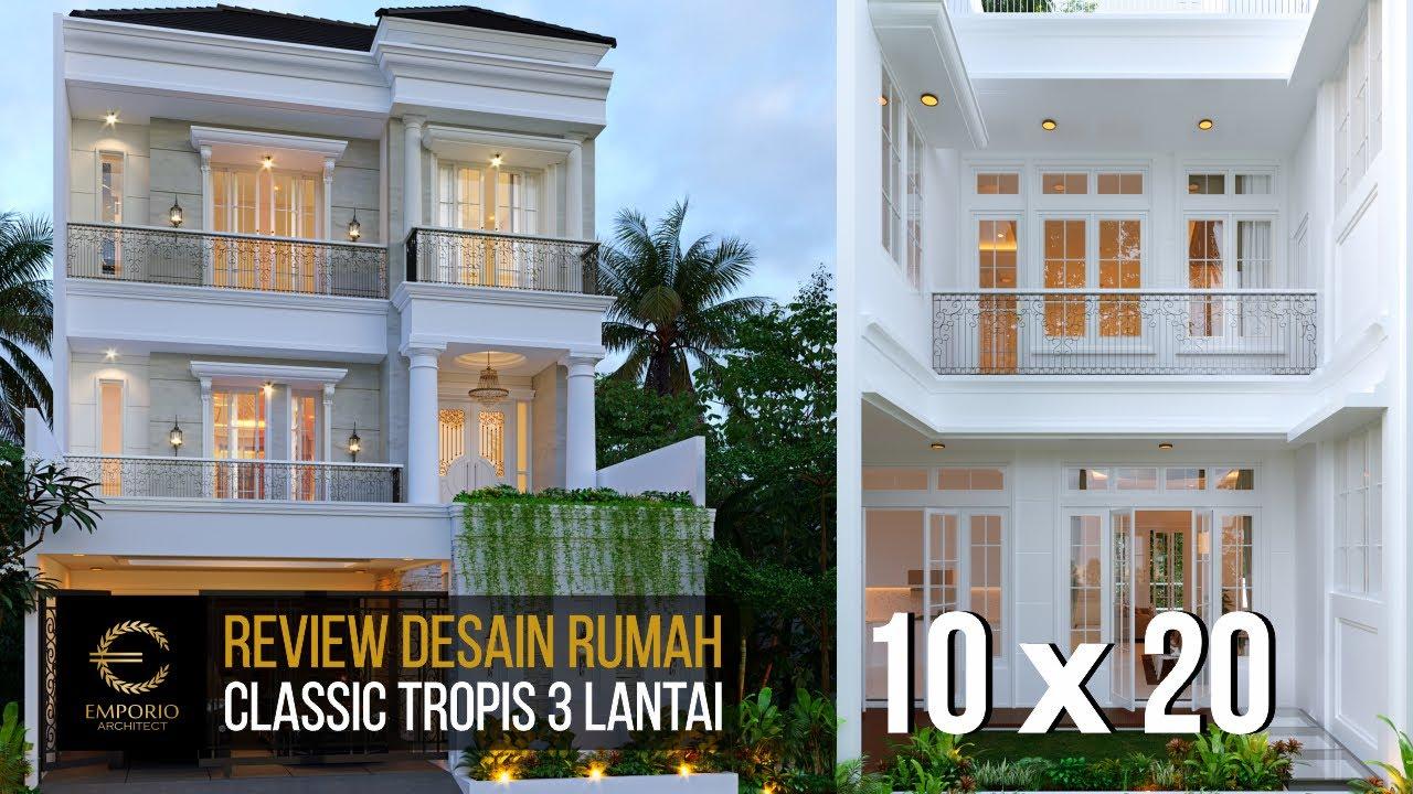 Video 3D Mrs. Dintan Classic House 3 Floors Design - Jakarta Utara