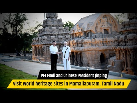 PM Modi and Chinese President Jinping visit world heritage sites in Mamallapuram, Tamil Nadu
