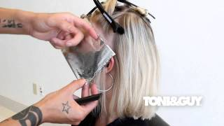 How to Color & Highlight Hair | TONI&GUY Hair Color Technique [Platinum blonde / Champagne blonde]