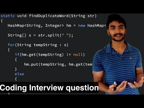 Java coding interview questions || Print duplicate occurrences of string in java