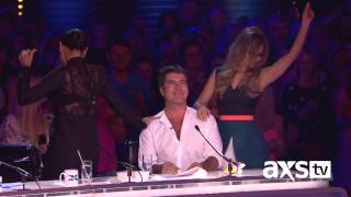Cheryl and Mel B do a little dancing - The X Factor UK on AXS TV
